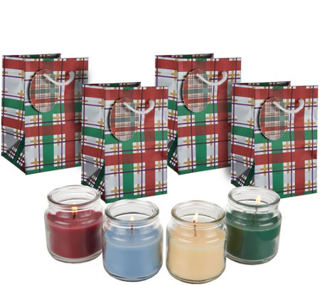 """As Is"" Set of (4) 2.5 oz. Candles by Valerie"