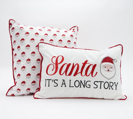 Home Reflections Set Of 2 Affirmation Holiday Pillows