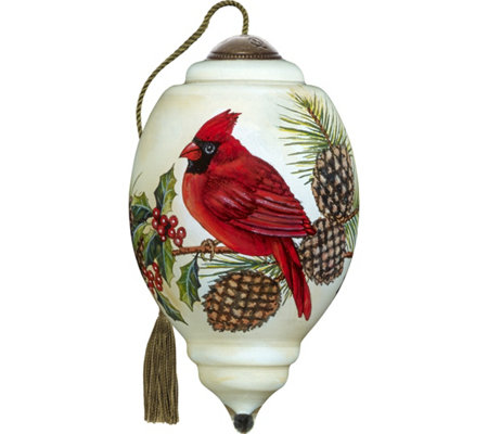 "3.00"" Christmas Cardinal Ornament by Ne'Qwa"