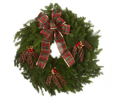 "32"" Country Deluxe Wreath by Valerie Del Week12/3"
