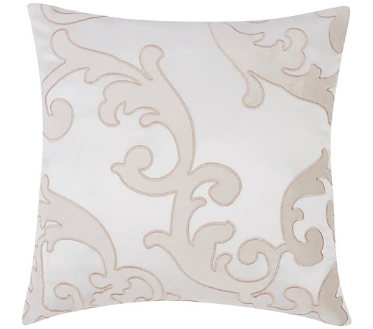 "Charisma Melange Scroll 20"" x 20"" Embroidered Pillow"