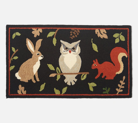 "Plow & Hearth 42"" x 24"" Seasonal Harvest Accent Rug"
