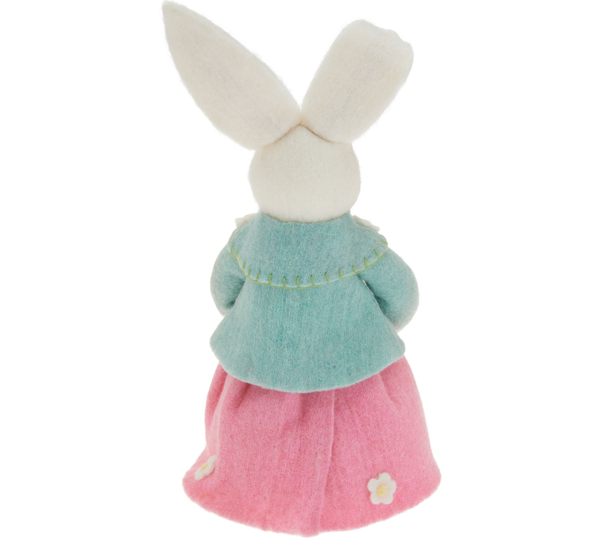 Boiled Wool Bunny Couple Spring-Summer Figures QVC Valerie Parr Hill Home Decor