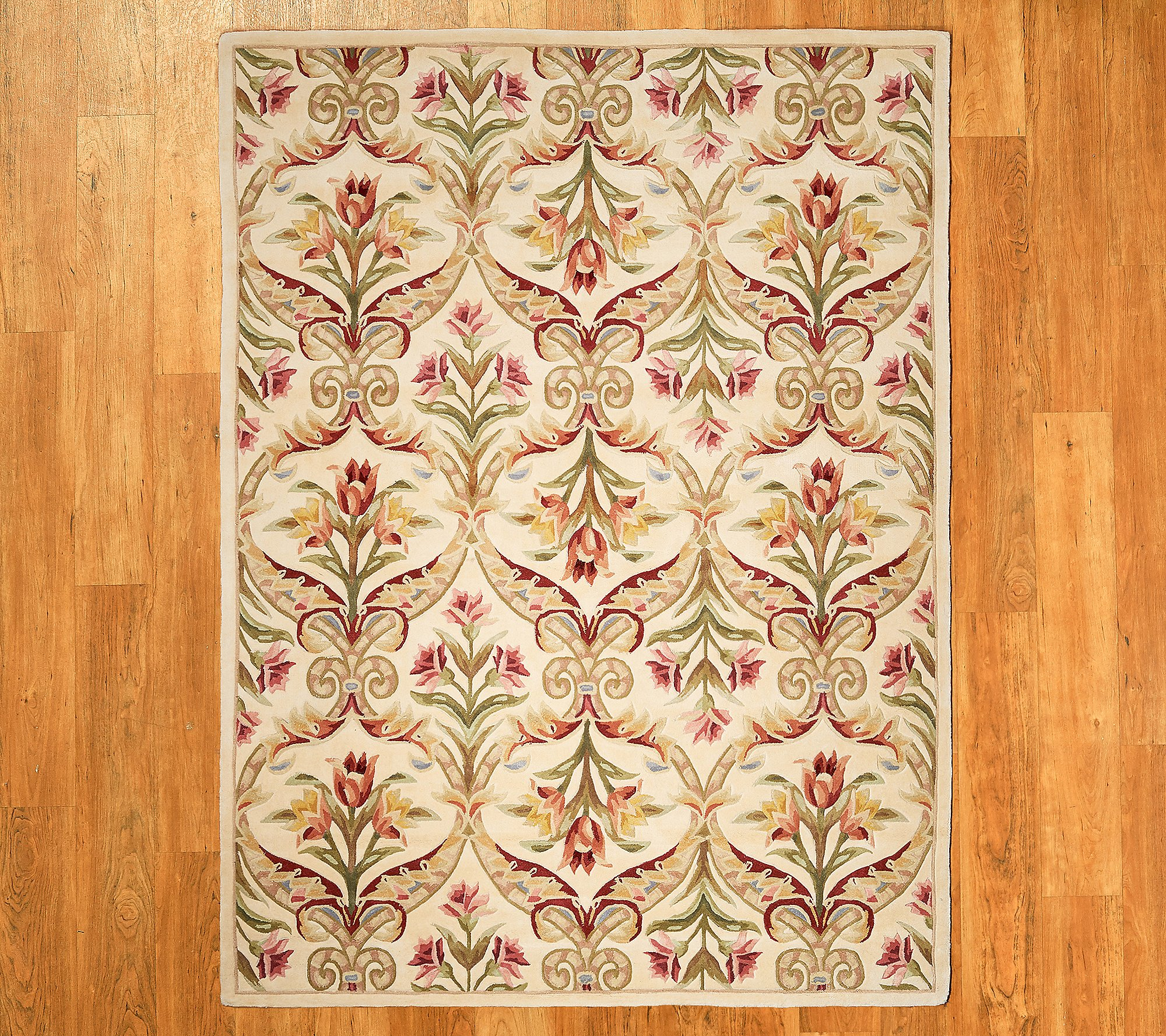 Royal Palace 8 X 11 Wool Floral Panel Area Rug Qvc Com
