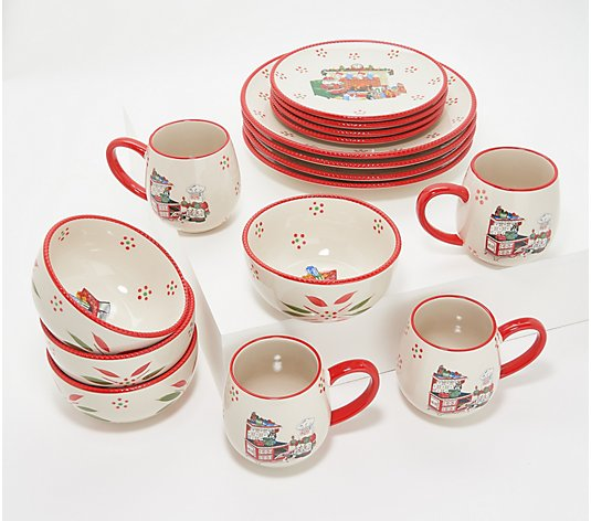 Temp-tations Seasonal 16-Piece Essential Dinnerware Set