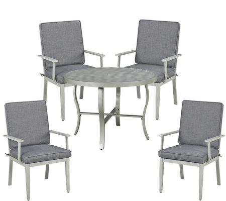 South Beach 5 Piece 48 Outdoor Dining Table 4 Chairs