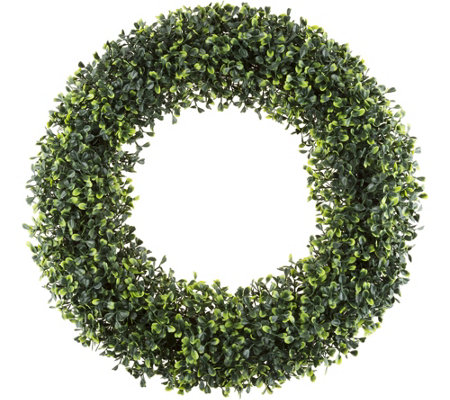 "19-1/2"" Boxwood Round Wreath by PureGarden"