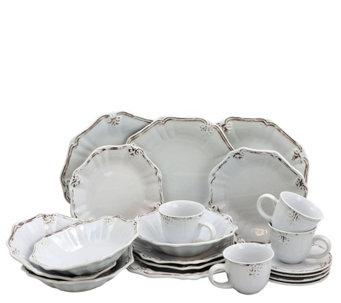 Elama Fleur de Lys 20-Piece Dinnerware Set - White - H295726  sc 1 st  QVC.com & Dinnerware \u2014 Tabletop \u0026 Bar \u2014 Kitchen \u0026 Food \u2014 QVC.com