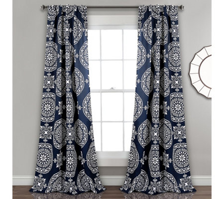 Karmen Medallion Room Darkening Window Curtainsby Lush Decor