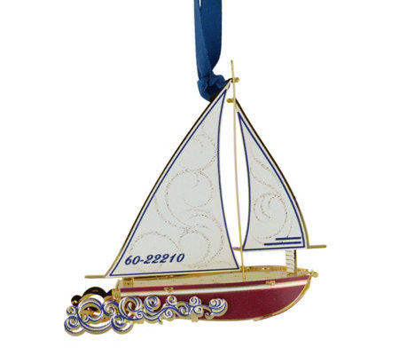 Sloop Ornament By Beacon Design