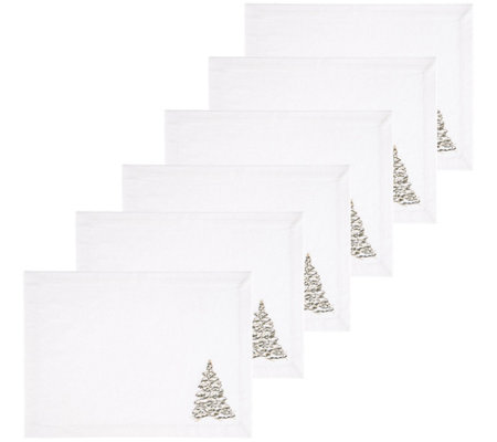 C F Home Golden Greenery Placemat Set Of 6