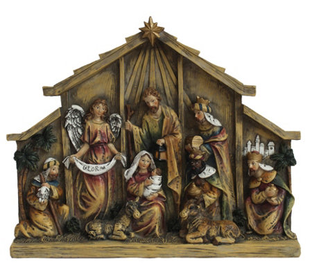 Nativity In Relief By Santa S Workshop
