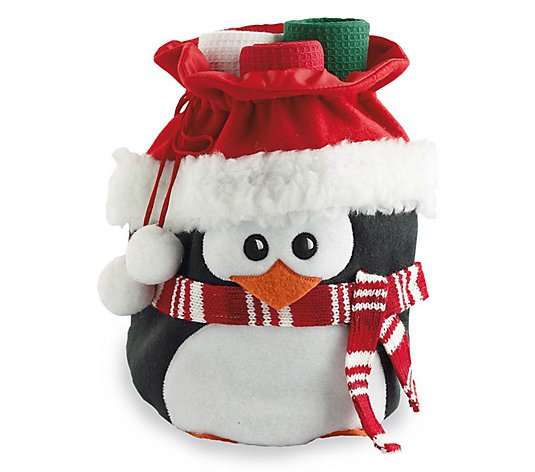 Design Imports 4-Piece Holiday Penguin KitchenTowel Gift Set