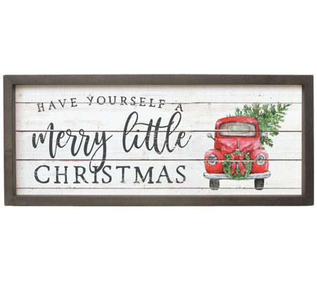 Merry Little Christmas Framed Wall Art