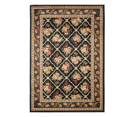Lyndhurst Floral Lattice Power Loomed 4' x 6' Rug