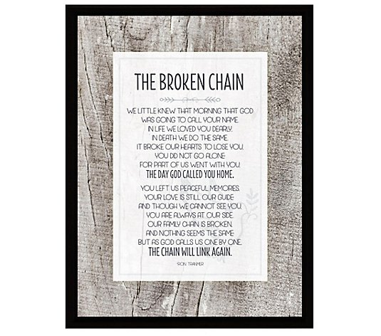 Broken Chain Simple Expressions Wood Plaque with Easel