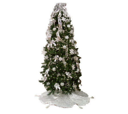 simplicitree 7 12 prelit pre decorated christmas tree wremotecontrol - Pre Decorated Artificial Christmas Trees