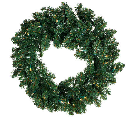"ED On Air 24"" Prelit Wreath by Ellen DeGeneres"