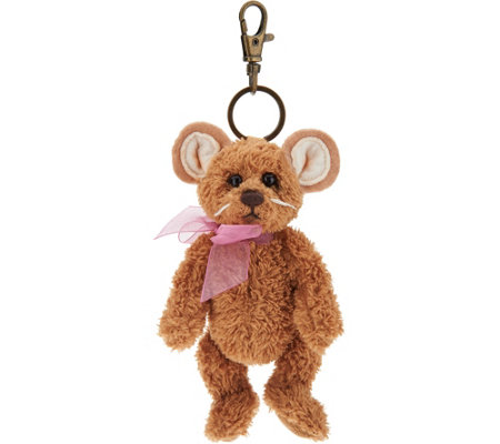 "Charlie Bears Collectible Tan 5"" Plush Keyring Bear"