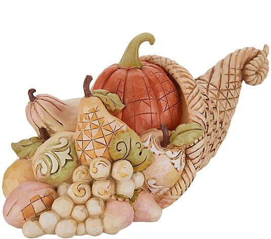 Jim Shore Heartwood Creek Harvest Cornucopia Figurine Qvc Com