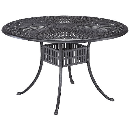Home Styles Largo 48 Inch Round Outdoor Diningtable