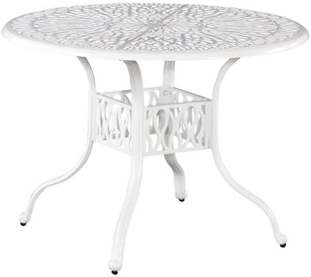 "Home Styles Floral Blossom White 42"" Round Dining Table"