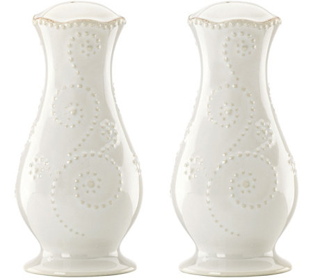 Lenox French Perle Tall Salt and Pepper ShakerSet