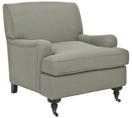 Linda Dano Club Chair with Linen Fabric Seating