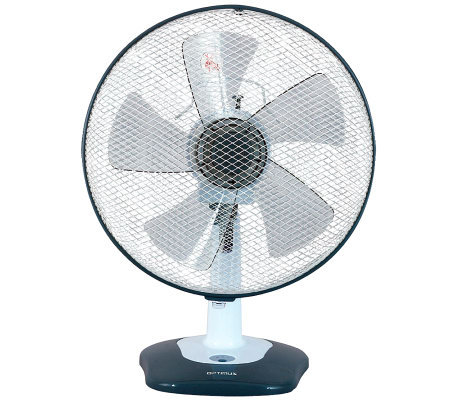 "Optimus 12"" Oscillating Table Fan with Soft-Touch Switch"