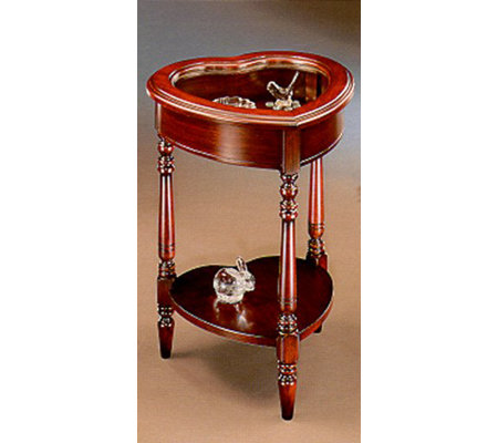 Butler Specialty Heart Shaped Curio Table   Oakor Cherry