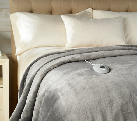 Perfect Fit Invisiwire Velvet Plush Heated Queen Blanket