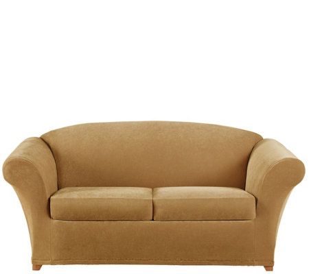 Sure Fit Stretch Pique 2-Seat Love Seat Slipcover