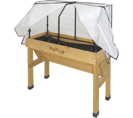 VegTrug Small Wall Hugger Greenhouse Frame & Co ver