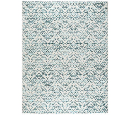 Vcny Home Celina Blue Geometric 5 X 7 Area Rug