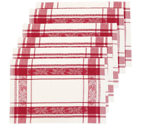 C F Home Jacquard Holly Placemat Set Of 6