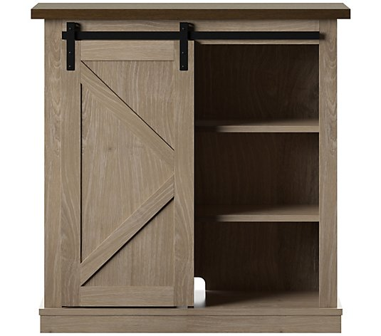 Twin Star Home Farmhouse Sliding Barn Door Accent Cabinet Qvc Com