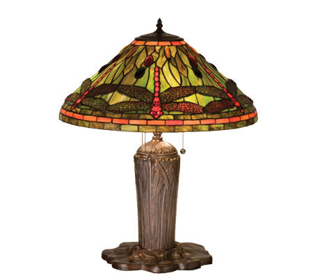 Tiffany Style Dragonfly Table Lamp Qvc