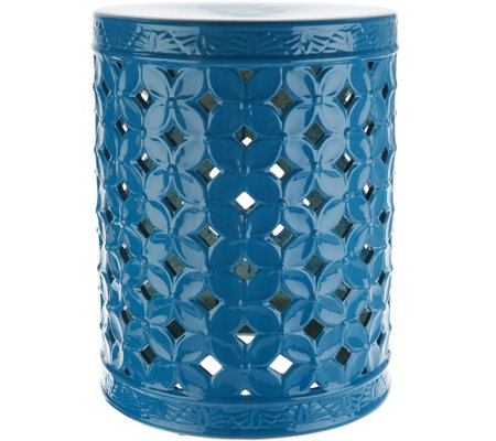"Illuminated 18"" Indoor/ Outdoor Ceramic Accent Table by Valerie"