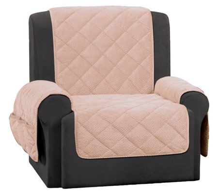 Sure Fit Recliner Textured Pique Waterproof Furniture Cover