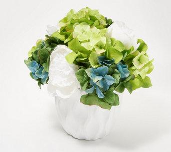 Home Decor Faux Peony U0026 Hydrangea Floral Decor   H218629