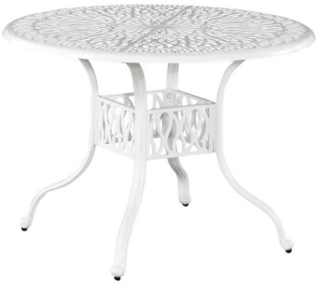 "Home Styles Floral Blossom White 48"" Round Dining Table"