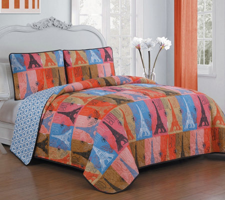 Avondale Manor Cannes 3-Piece Queen Quilt Set