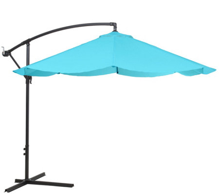 Pure Garden Hanging 10-Foot Patio Umbrella, Eas y Crank & Base