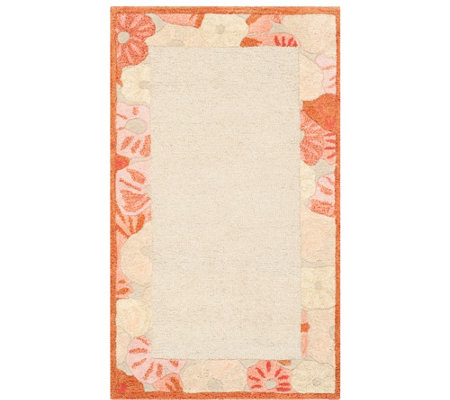 "Martha Stewart Poppy Border 2'6"" x 4'3"" Rug"