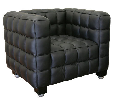 Arriga Black Leather Modern Chair