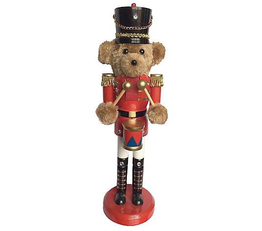14 Teddy Bear Drummer Nutcracker By Santa S Workshop Qvc Com