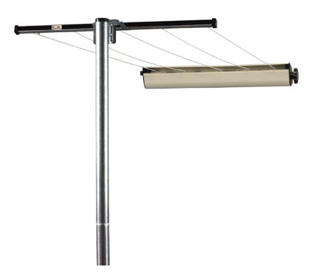 Household Essentials Clothes Line Steel Post Assembly