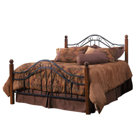 Hillsdale House Madison Queen Bed - Cherry Finish/Black
