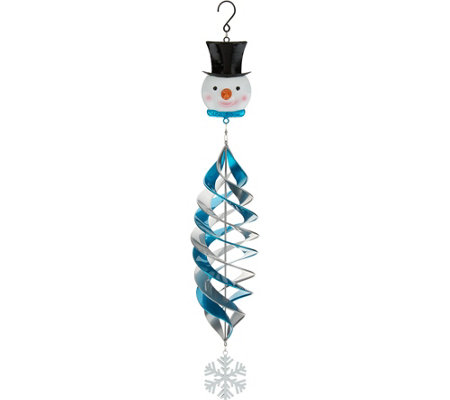 Plow & Hearth Indoor/Outdoor Painted Metal Holiday Wind Spinner
