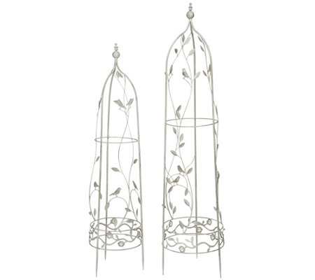 Set of 2 Indoor/ Outdoor Metal Plant Trellis Frames by Valerie